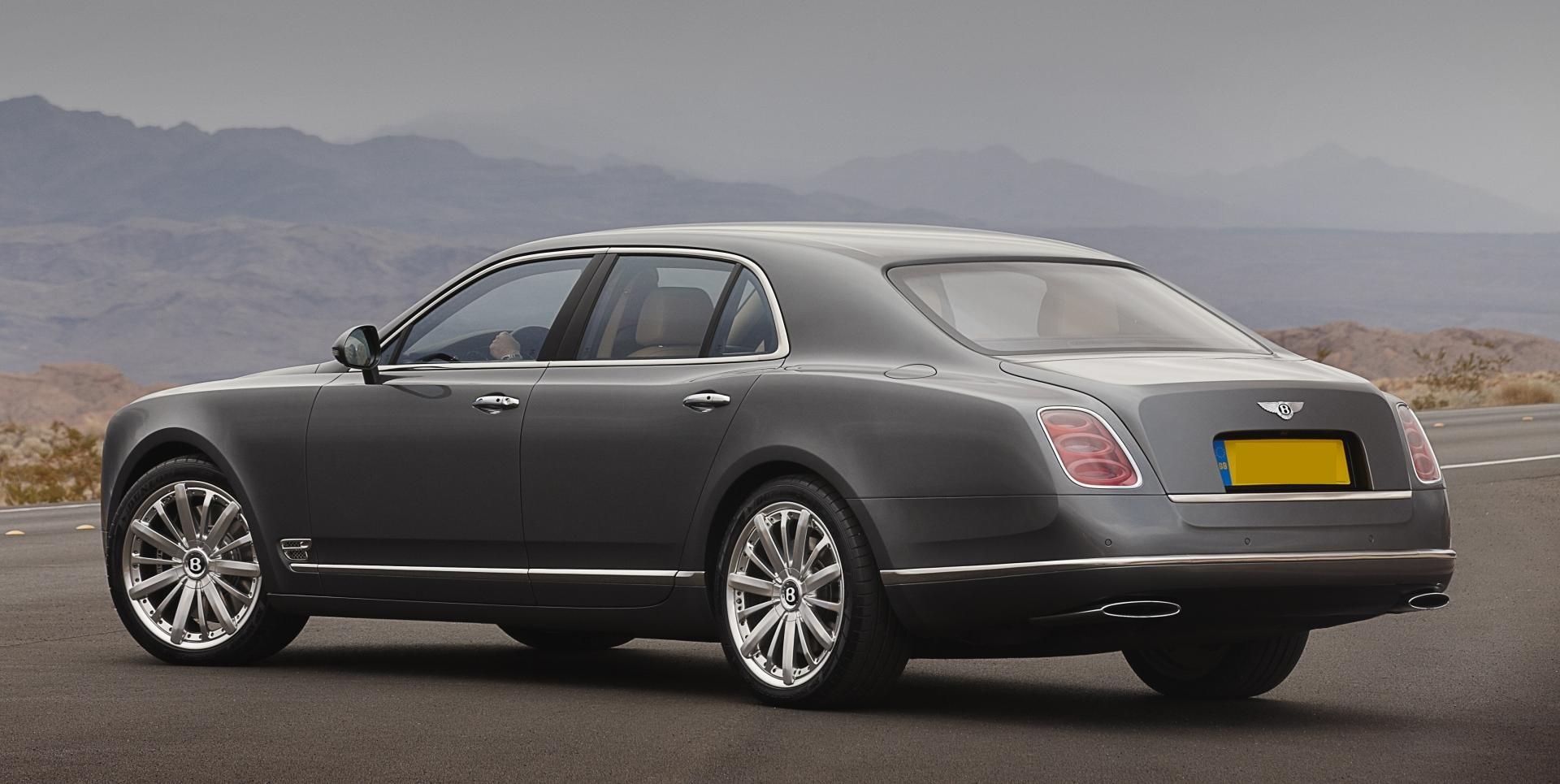 Bentley Mulsanne - back- Wedding rental Houston