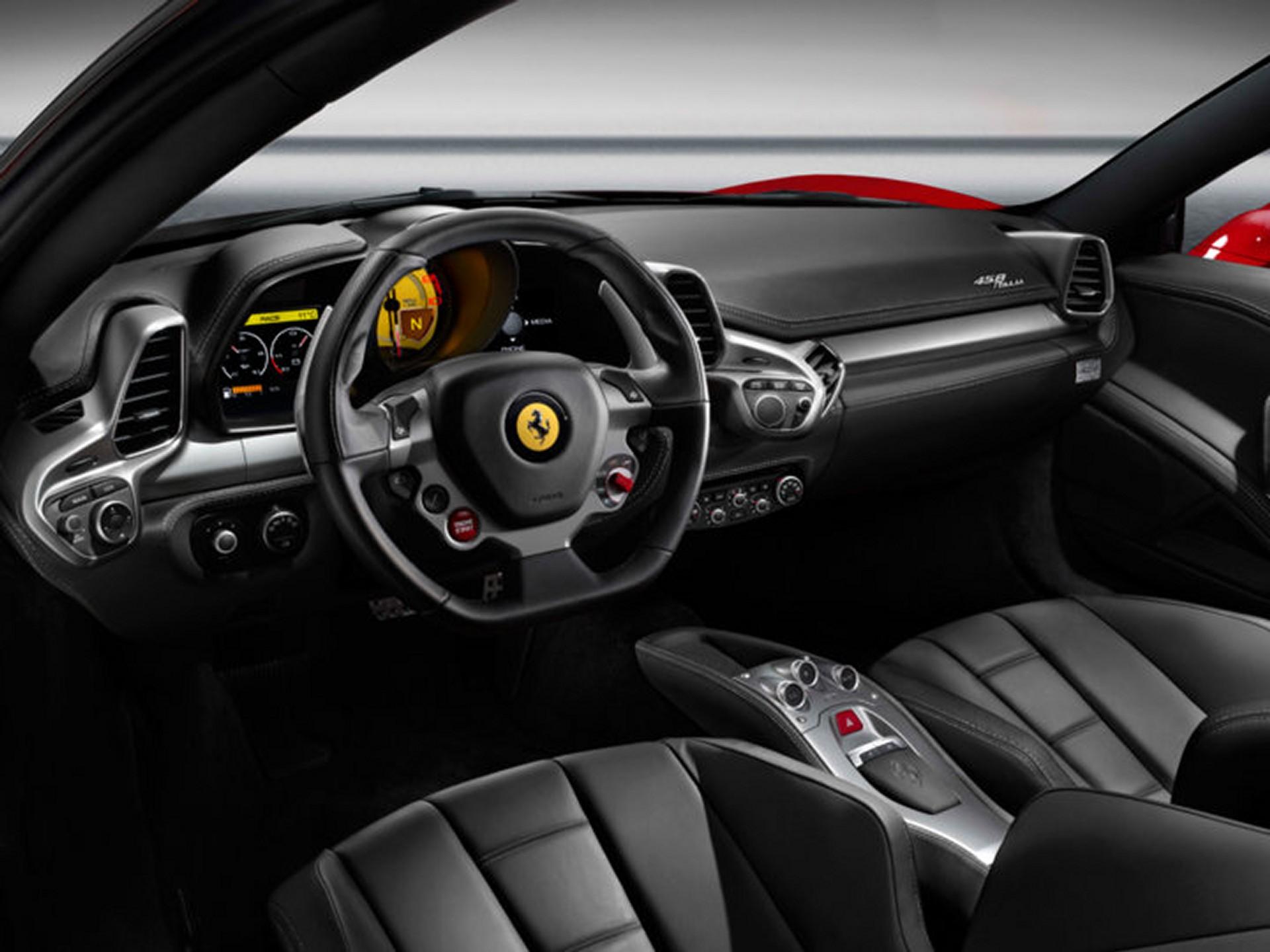 Ferrari 458 Italia - Inside - W exotic car rentals