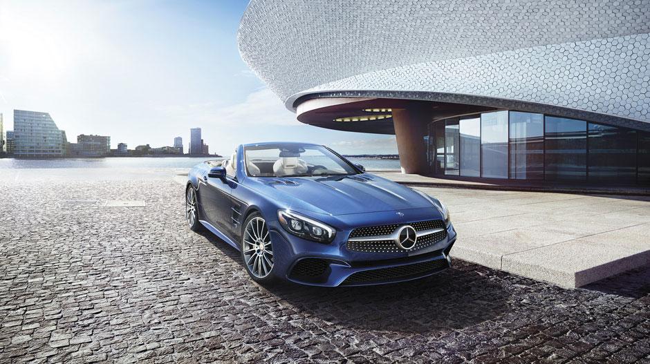 Mercedes Benz SL550-back- Luxury car rental Houston
