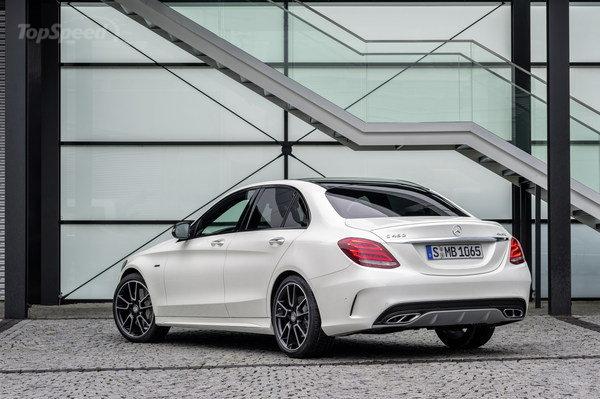 Mercedes Benz C300-back- luxury car rentals houston