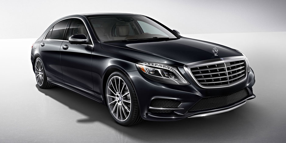 Mercedes S550 -front 2-luxury car rentals Houston