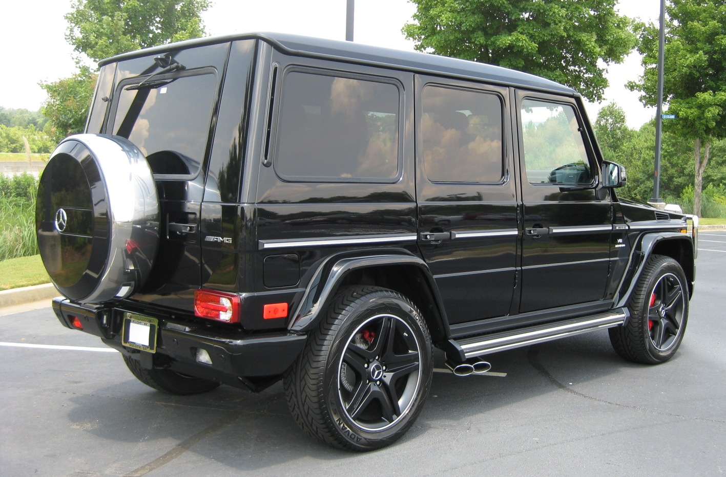 Mercedes G63 AMG- back-luxury car rentals Houston