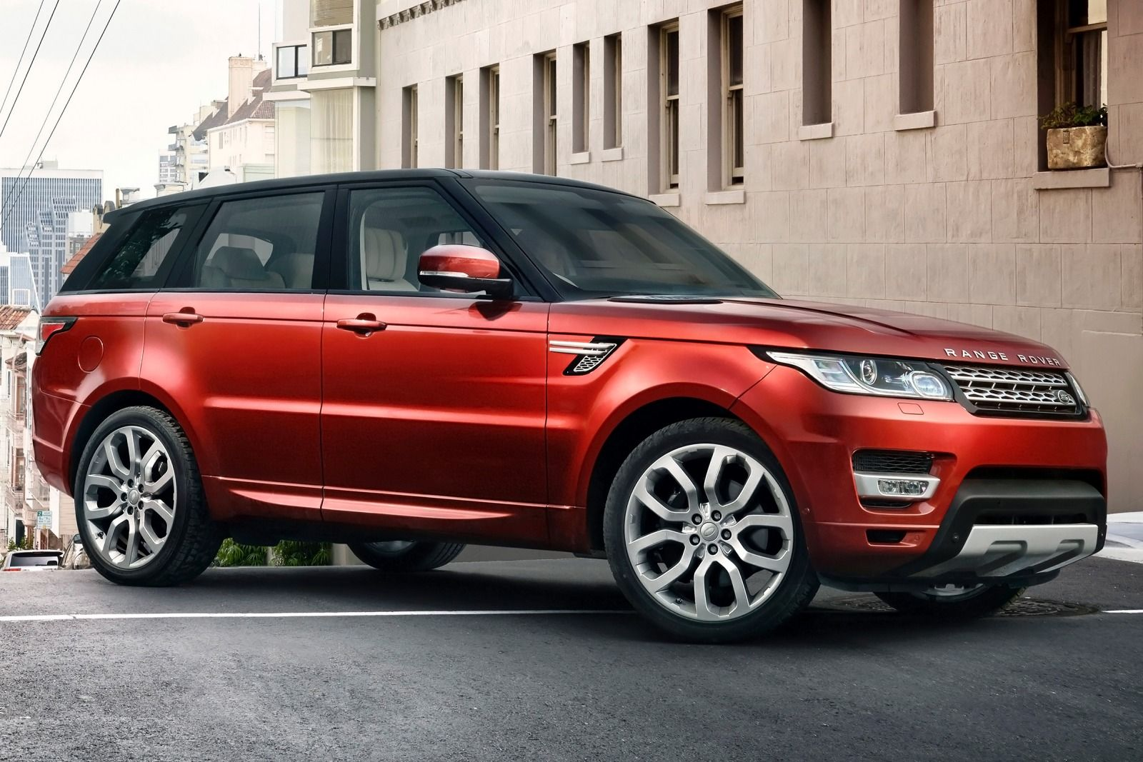 Range Rover Sport- side- luxury car rental houston