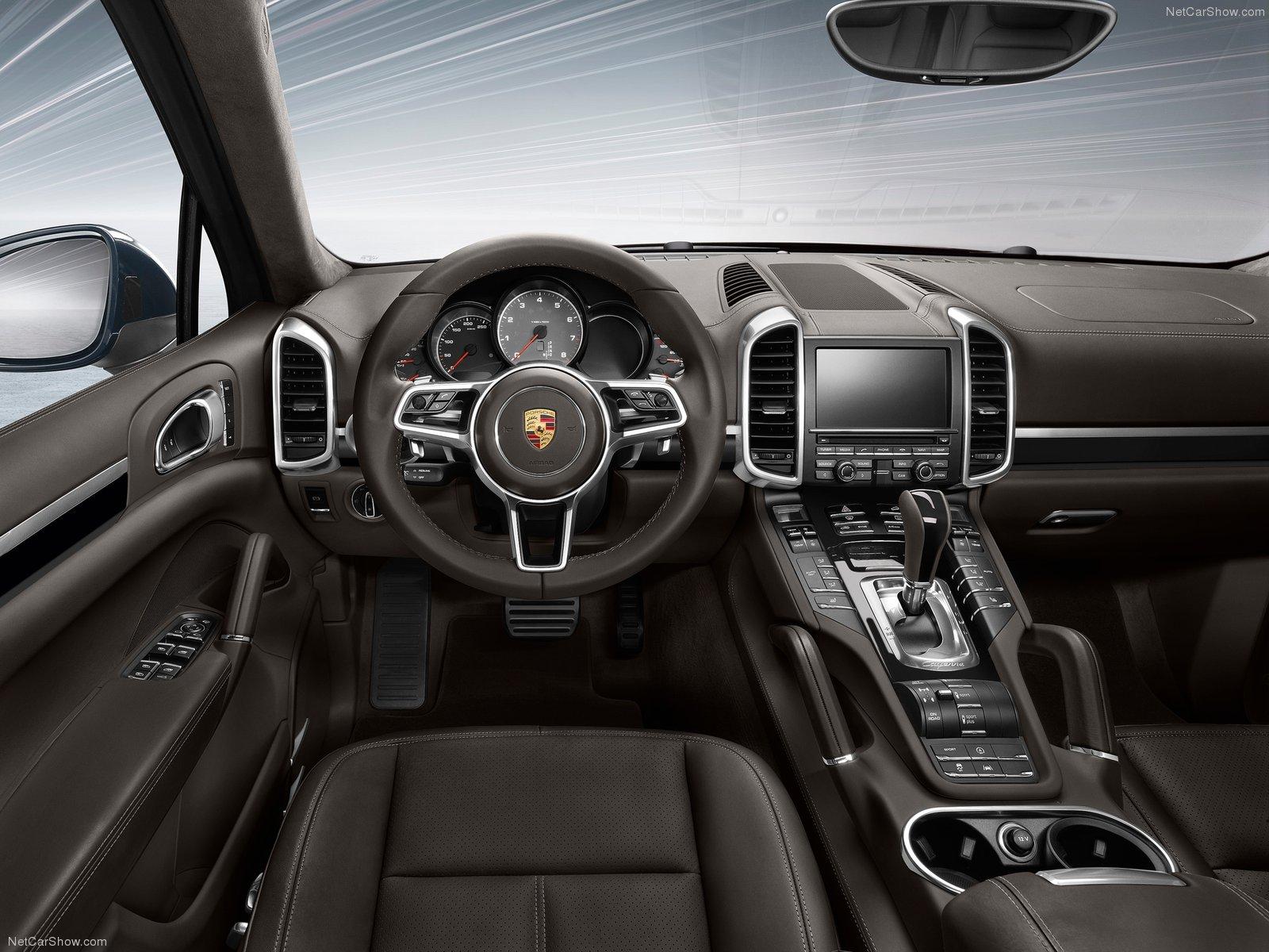Porsche cayenne- interior- Luxury car rental houston