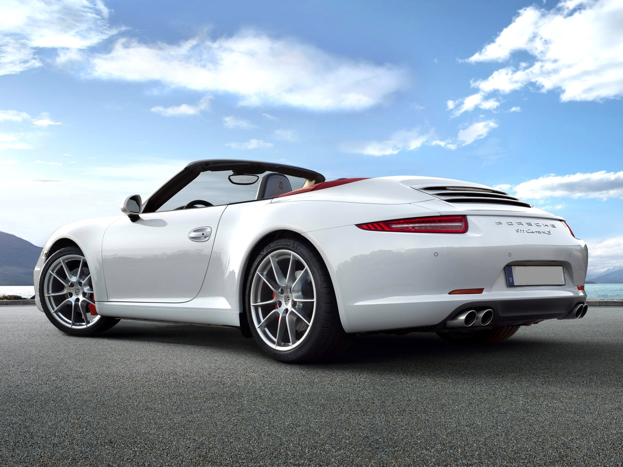 porsche 911 cabriolet - back - luxury car rental houston