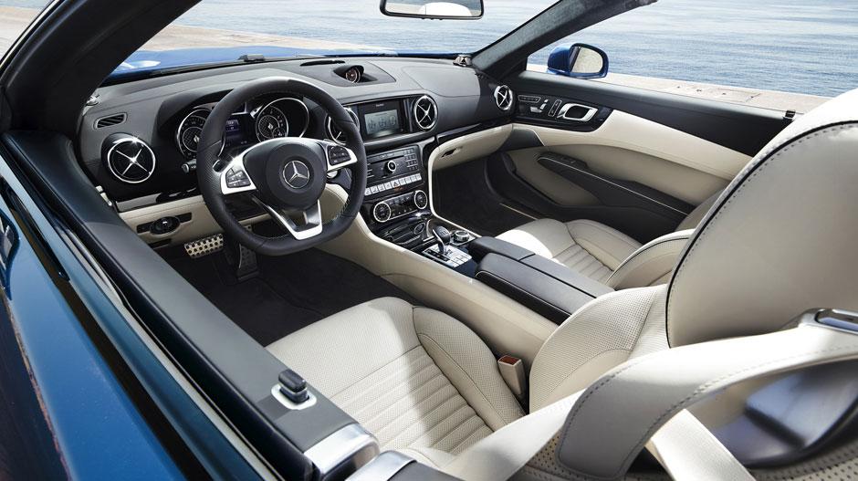 Mercedes Benz SL550-interior- Luxury car rental Houston