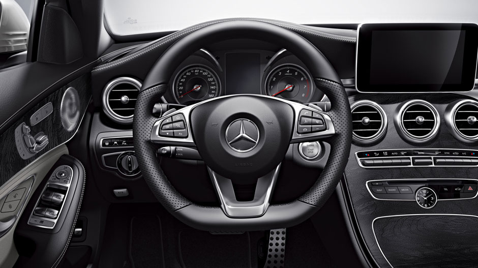 Mercedes Benz C300-interior- luxury car rentals houston