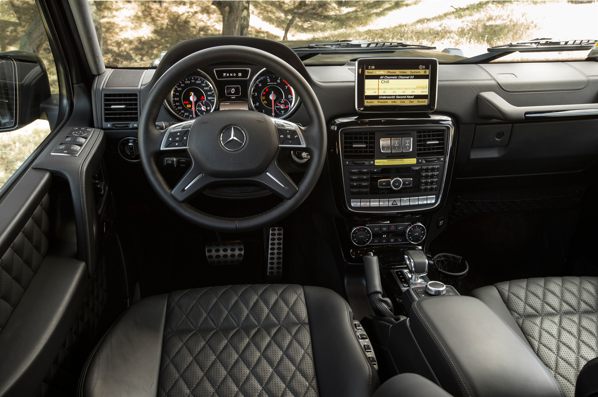 Mercedes G63 AMG- interior-luxury car rentals Houston