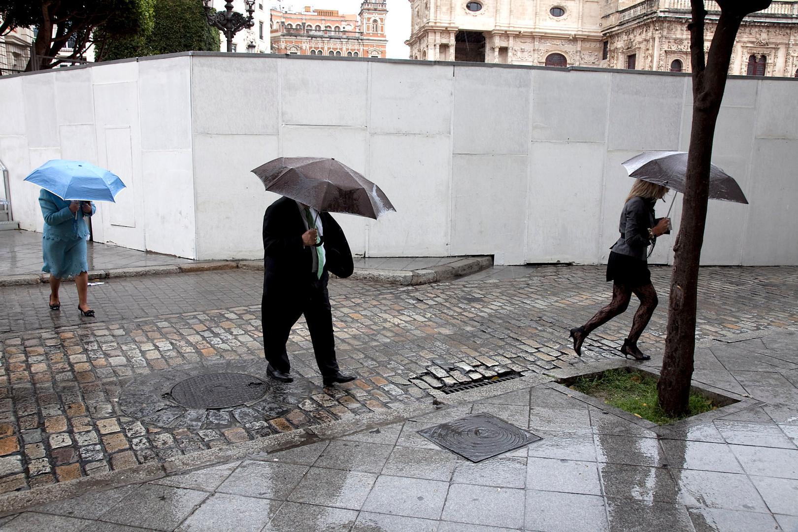 Sevilla, regnvejr