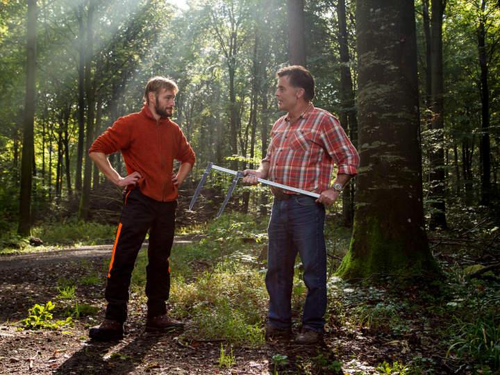 Skovridder og skovarbejder