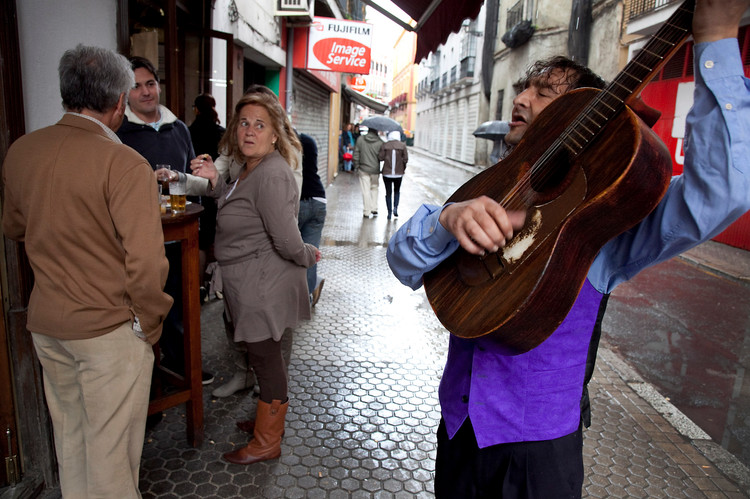 Gademusikant i Sevilla