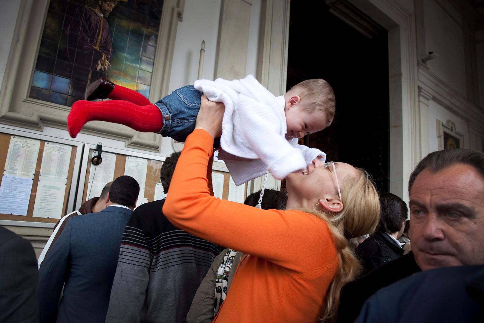 Mor og datter i Sevilla