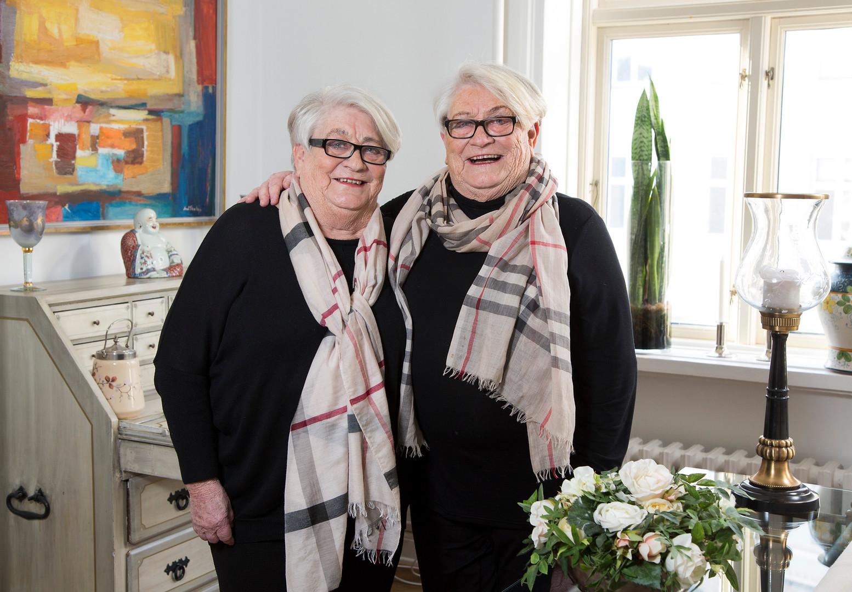 Tvillingesøstrene Birthe og Hanne