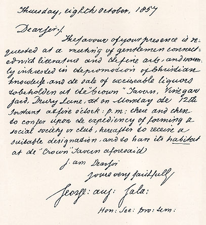 Letter from George Augustus Sala
