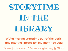 Storytime has a new location