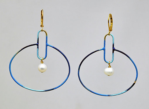 Circuit Earrings Indigo