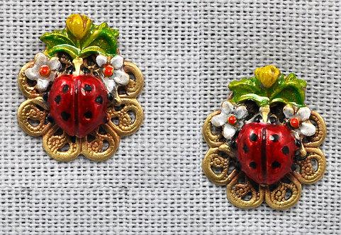 Wholesale: Garden Ladybug  Earrings