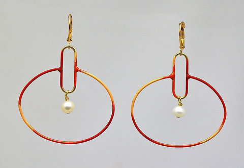 Circuit Earrings Coral