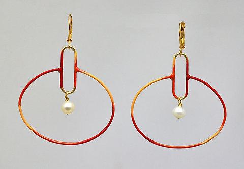 Circuit Earrings Coral