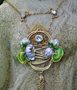 Divine Water Lily Necklace Detail 2
