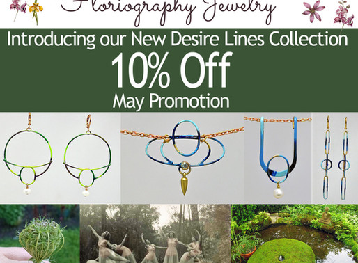 """Floriography Jewelry's Newest Collection """"Desire Lines"""""""