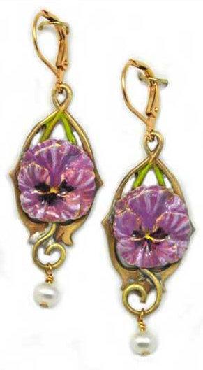 Wholesale: Garden Pansy Earrings