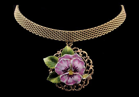The Garden Collection: Purple Pansy Choker