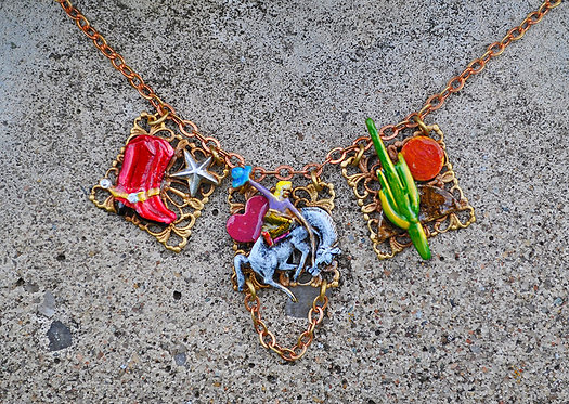 Victorian Cow Girl Necklace