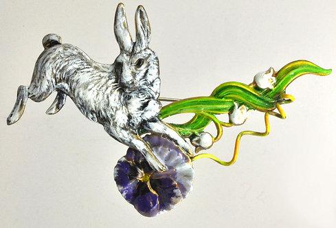 Wholesale: White Rabbit Brooch