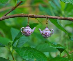 Tea Pot Earrings