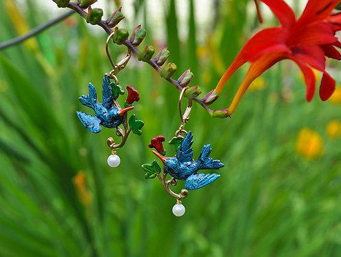 Wholesale: Birds & Bees Hummingbird Earrings