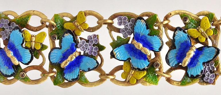 Blue Morpho Bracelet
