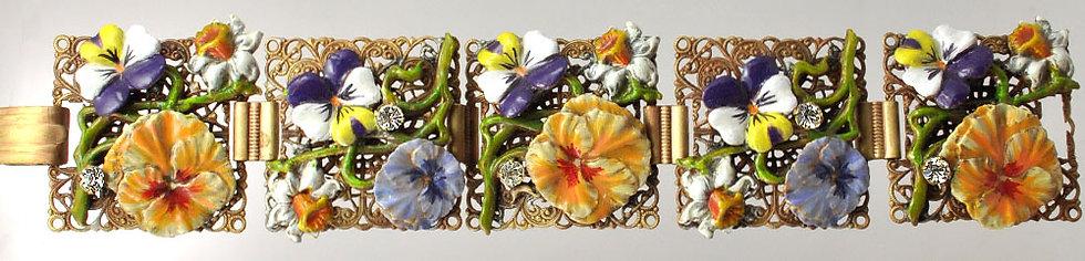 Wholesale: Garden Pansy  Bracelet