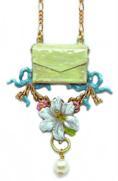 Wholesale: Garden Lily Message Necklace