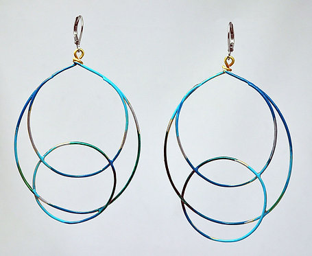 Ripple Earrings Turquoise