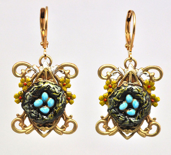 Wholesale: Birds & Bees Bluebird Earrings
