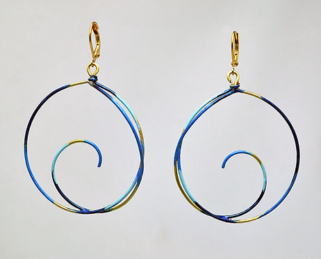 Destination Earrings Indigo