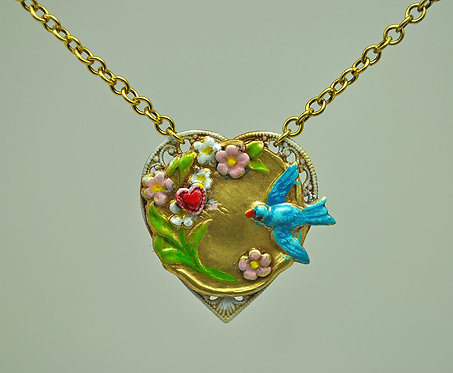 Swallows Mate for Life Necklace