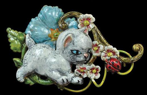 The Garden Collection: Curious Kitten Pin