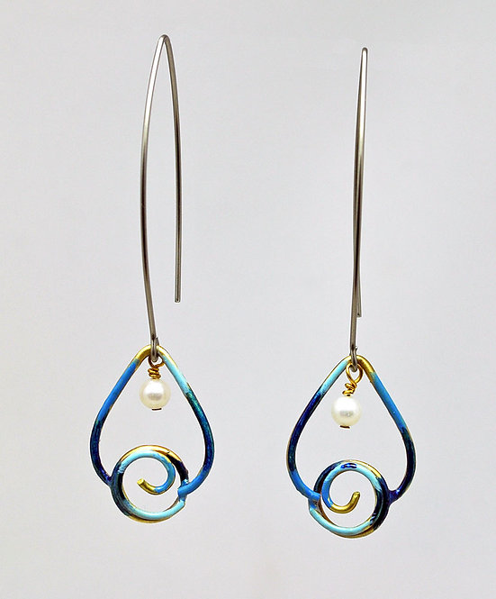 Droplet Earrings Indigo
