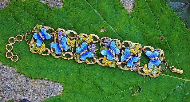 Wholesale: Blue Morpho Butterflies Bracelet