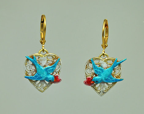 Swallows Mate for Life Earrings