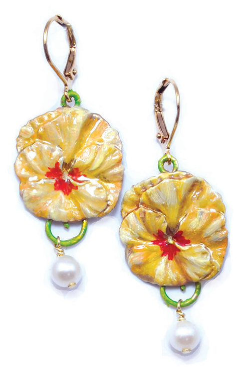 Thoughts Apricot Earrings