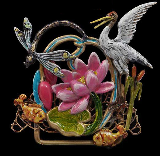 Lily Pond Table Top Ornament
