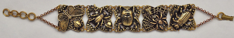 Antique Etchings Collection: Insect Bracelet