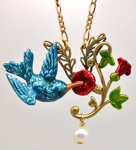 Wholesale: Birds & Bees Hummingbird Necklace