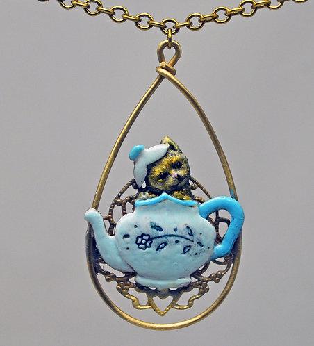 Kitten in a Teapot Necklace
