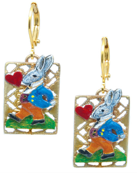 The Wonderland Collection: White Rabbit Earrings