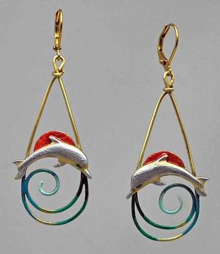 Dolphin Waves Earrings