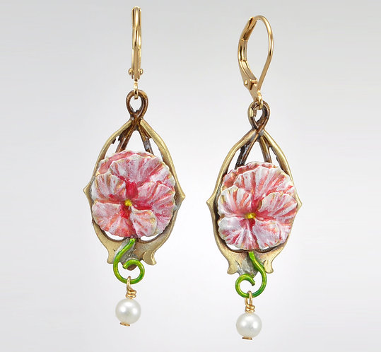Pink Titania Earrings